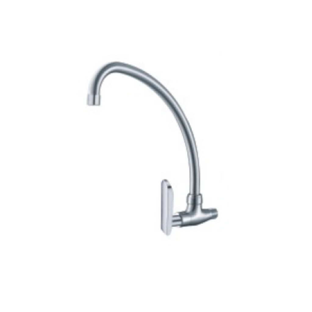 Brass Chrome Wall Sink Tap 1211C