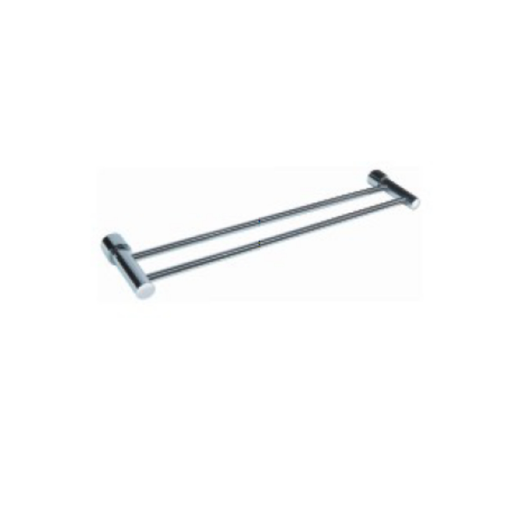 Brass Chrome Double Towel Rail 88002
