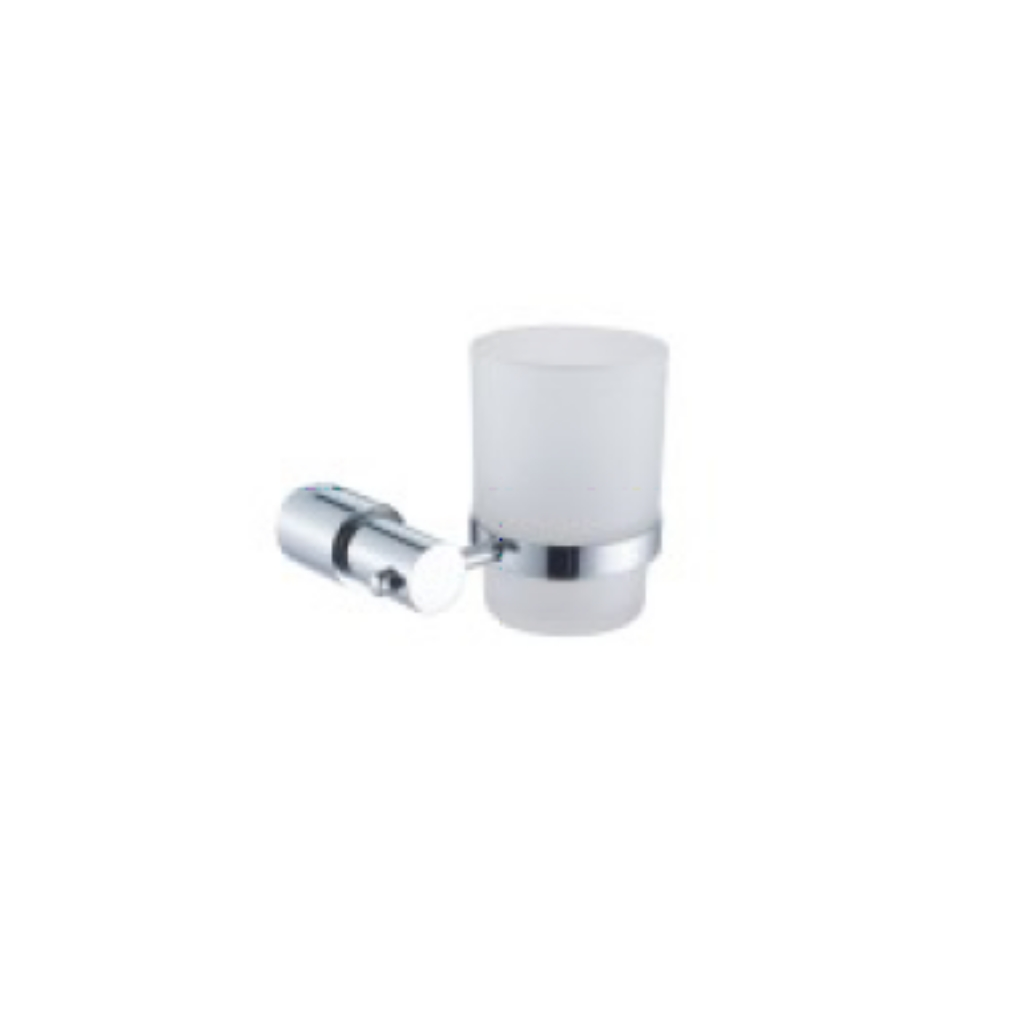 Brass Chrome Holder with Tumble Glass 88006