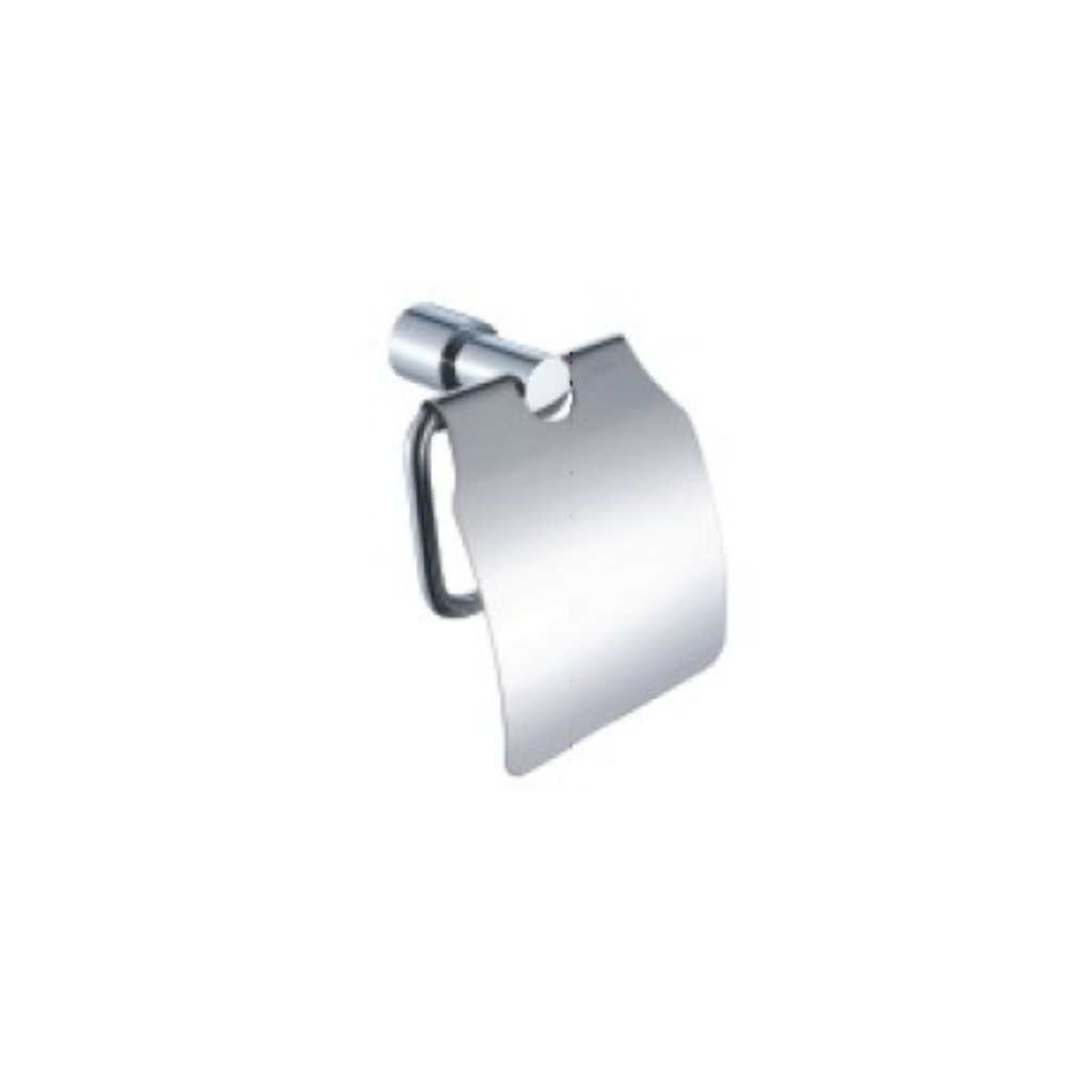 Brass Chrome Toilet Roll Paper Holder with Lid 88111